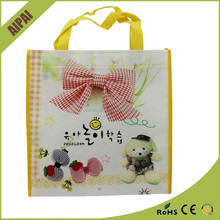 polyester fabric print Lovely christmas gift bag Plastic PP non-woven gift shopping bag