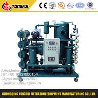 ZJR Double Stage Insulation Oil regeneration transformer oil recycling plant