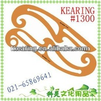 kearing,1300s,yellow plastic curves,drafting template stencil/ drawing template