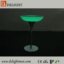 Factory export plastic light up led restaurant dining table with battery powered&16 mix colors change