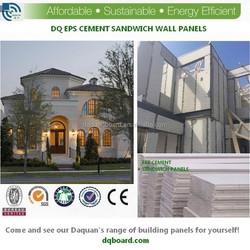 2015 Daquan prefab house and villas eps sandwich panel for light steel prefab house