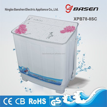 7.8kg semi automatic twin tub washing machine with glass cover washer and dryer