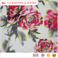 Flower design big flower print fabric