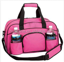WOMENS PINK SPORTS DUFFLE BAG TOTE GYM YOGA CARRY ON BAG TRAVEL BAGS