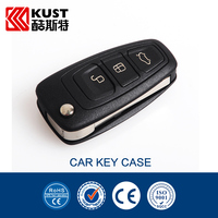 KUST 3 Buttons Flip Remote Folding Key Case For Focus 3 ABS Material Car Key Cover For Focus 3 Car Key Shell For Ford For Focus