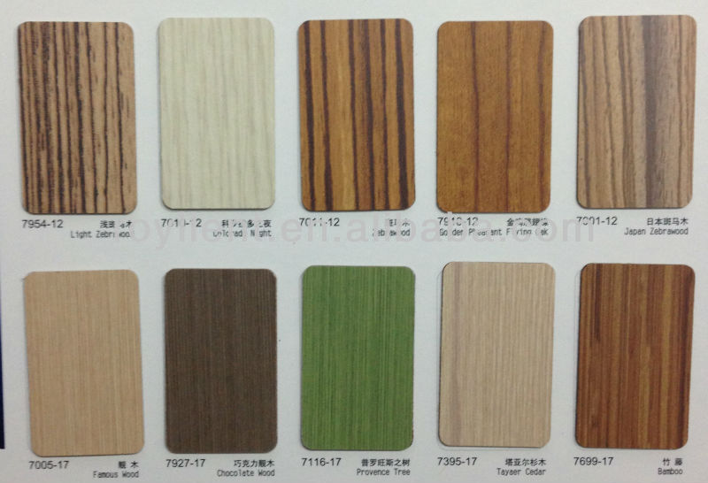Decorative high pressure laminate HPLwood grain wall