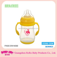 9oz 260 ml Wide Neck new funny color changing natural flow baby feeding bottle