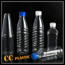 300ml 500ml 1l plastic bottle for beverage juice mineral water with white blue screw cap