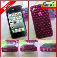 soft plastic mobile phone case for iphone 4g with Water droplet Pattern