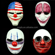 Factory supply 2015 cheapest price Halloween resin cosplay mask payday 2 mask (Dallas /Chains /Hoxton / Wolf)
