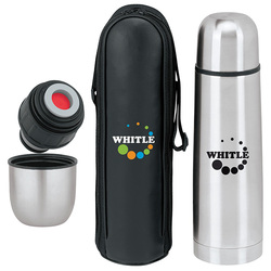 Thermo with Case/Wholesale high quality Stainless Steel Vacuum Flask /Thermos with Zippered Carrying Case