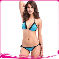 Wholesale Super Deal Blue Exotic Swimsuits Sexy Bikinis