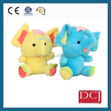 colourful mini sitting plush elephant doll plush toy for kids