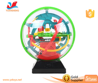 Hot sell plastic magical 3D intellect maze ball for kids 3d maze ball game puzzle toy puzzle ball