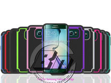 Wholesale Popular PC + Silicone+TPU Combo football skin cover Case for Samsung Galaxy S6 Edge hard case fast delivery
