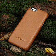 Italian full grain vegetable tanned Leather Case For phone for apple iphone 6/6plus