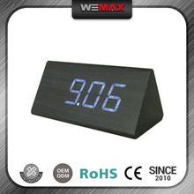 Best Selling Discount Custom Wooden Bedroom Led Cube Alarm Clock