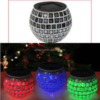 multicolor christmas ornament glass globe led solar light for party indoor decoration