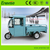 48V/60V,650W Electric Tricycle,Adult Style,3 Wheel Electric Bike,Electric Bicycle with Shed for Passenger and Cargo Loading