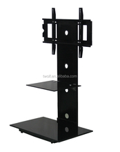 dragon mart dubai free standing glass tv stand made in china ZML005