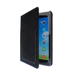 Good hand feel nubuck genuine leather tablet case for iPad Mini