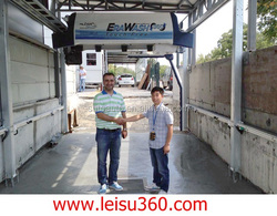 In Istanbul/Turkey Touch free car wash equipment, high quality vehicle wash system