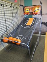 "7/8"" Steel Tube Portable Basketball Frame For Game w/ Backboard and Net"