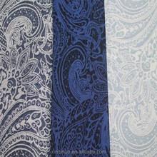2015 latest two tone amoeba pattern stretch yarn-dyed jacquard denim/jean fabric for hat shoes bag garment pants