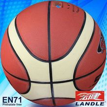 High quality 12 panels PU basketball 2013 best new leather basketball