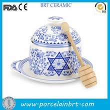 Spode polish decorate custom porcelain Honey Pot wholesale