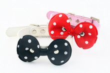 Hot selling pets and dogs products bow tie collar style leather dog collar