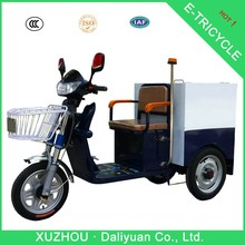 new garbage electric front load tricycle fast food tricycle