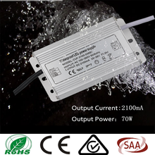 70w Waterproof led driver / powr supply constant current with CE certification