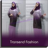Gradient Colour Baju Muslim Abaya