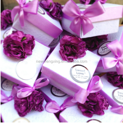 fancy flower wedding favor box