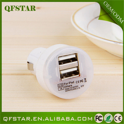 Popular dual port wireless 9v 2a car charger