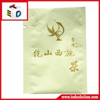 tea packaging bags aluminum foil pouch with tearing small bags