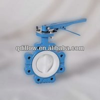 BUTTERFLY VALVE WITH PTFE SEATED