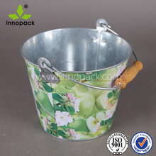 5L Colored galvanize metal oval shaped ice beer tin bucket
