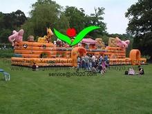 PVC Tarpaulin suitable big playground inflatable Noah's Ark slide
