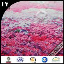 Custom design high quality digital printed polyester silk fabric