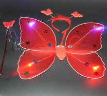 wholesale cheap red butterfly fairy wing for kids FGWG-1037