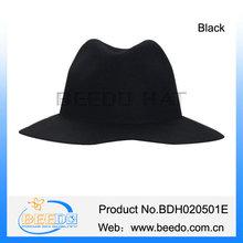 Beautiful women's wool felt men fedora floppy hats trilby felted hat