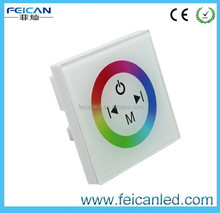 White Touch panel RGB full color led controller for 3528 5050 RGB led strip light DC12V 3*4A 144W