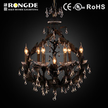 Luxury gold crystal chandelier lightings lamp for sale