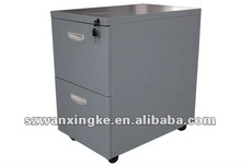 grey metal steel movable file storage cabinet with wheel