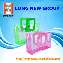Clear pvc customize blank pvc custom tote bag