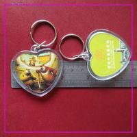High Quality plastic keychain photo holder