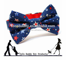 2015 hot news pet dog products bows pattern dog collars canvas dog hair bow tie wholesale