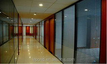 Tempered Glass For Office Partition Wall /bedroom with Led light